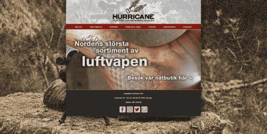 Hurricane Luftvapen websida - Regemedia