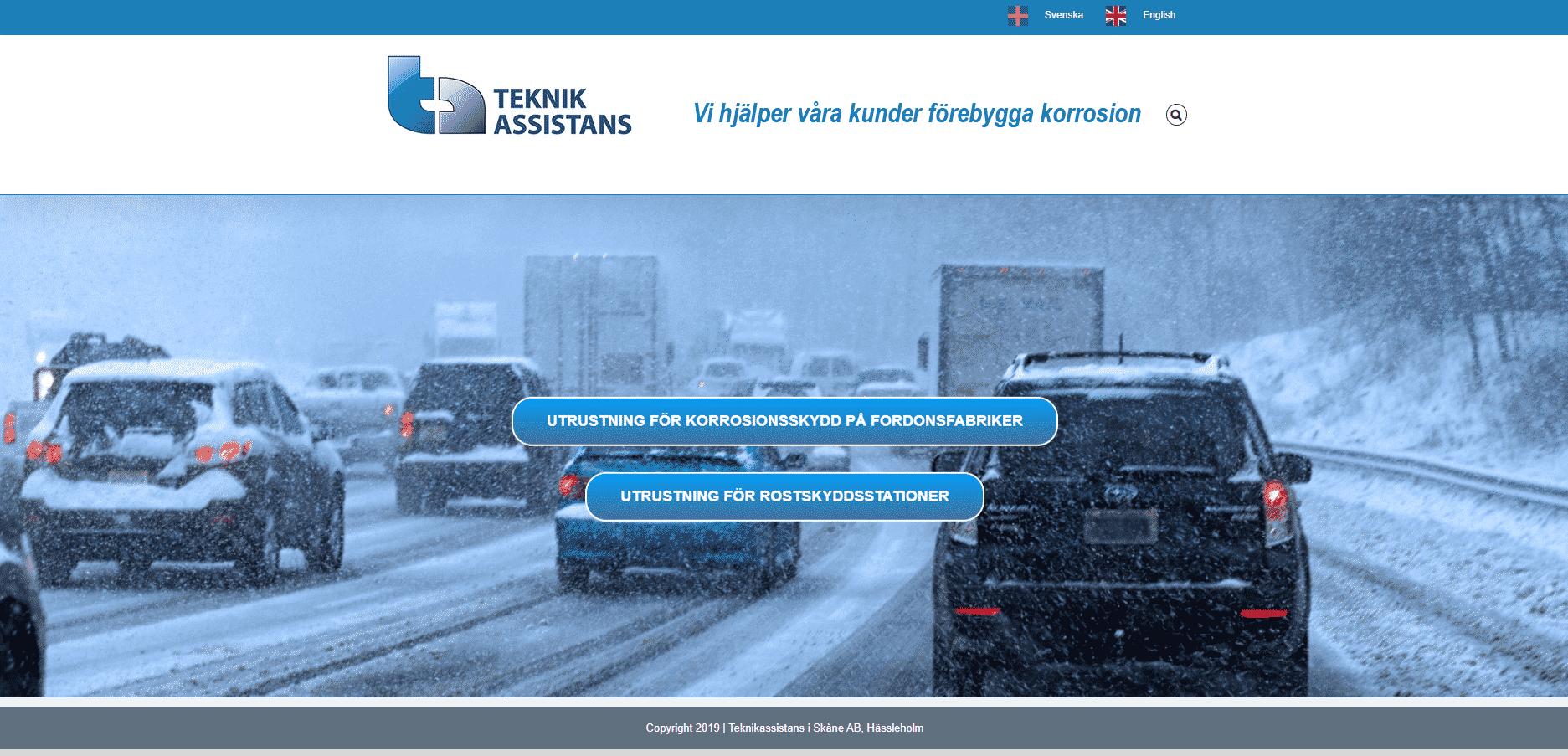 Teknikassistans i Skåne AB Websida Regemedia
